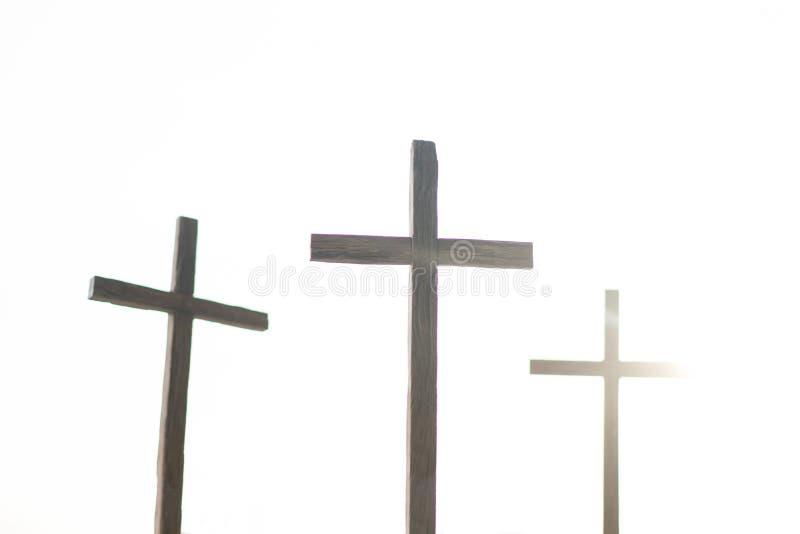 3 Kreuze in einer Stadt stockfotos