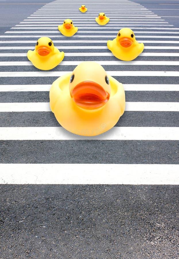 Kreuzen Sie die Straße stockfotos