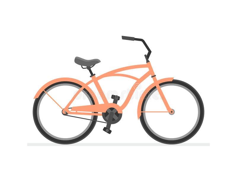 Kreuzer-Fahrrad vektor abbildung