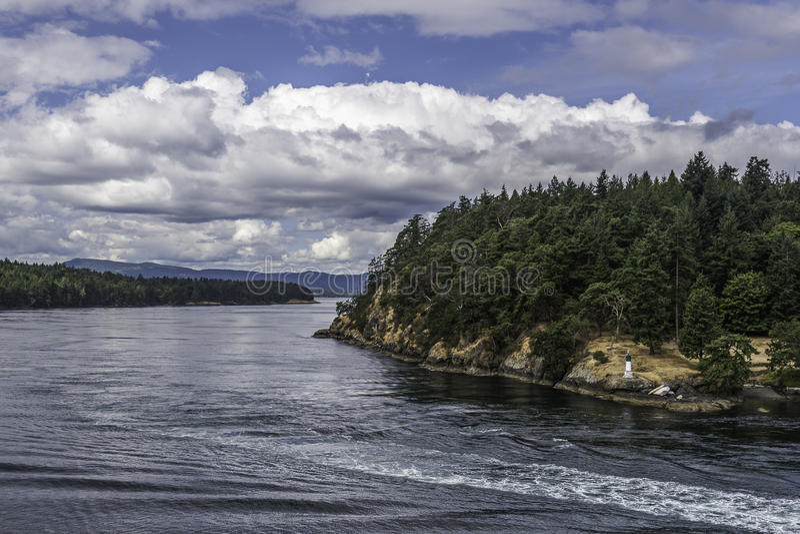 Kreuzfahrt von Vancouver zu Victoria Island stockfoto