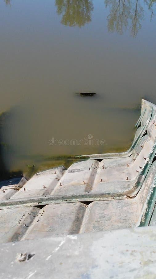 Kreuzfahrtboot der flachen Unterseite lizenzfreies stockfoto