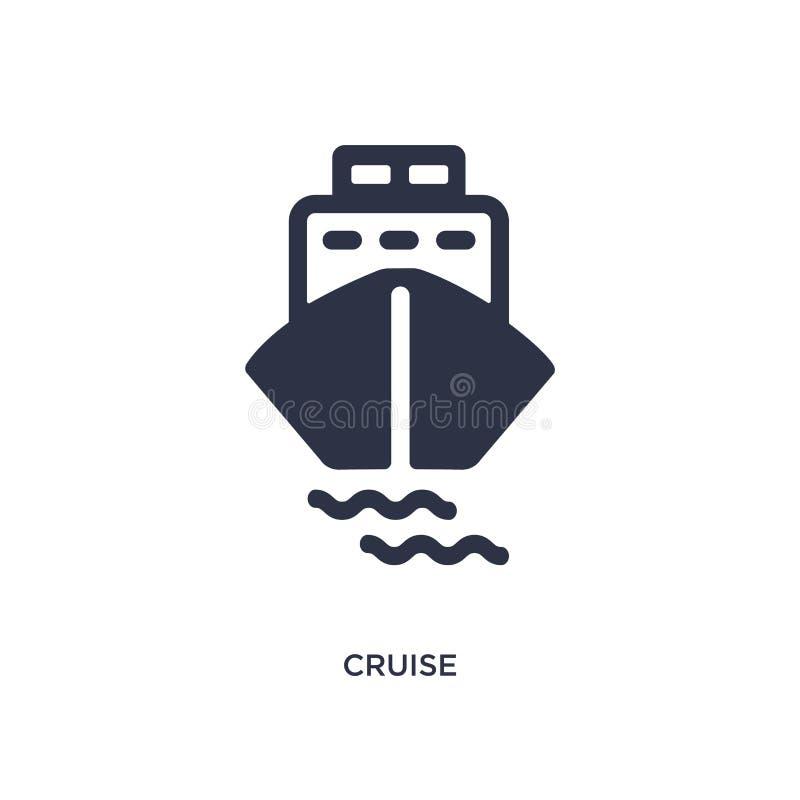 Kreuzfahrtikone auf weißem Hintergrund Einfache Elementillustration vom Sommerkonzept stock abbildung