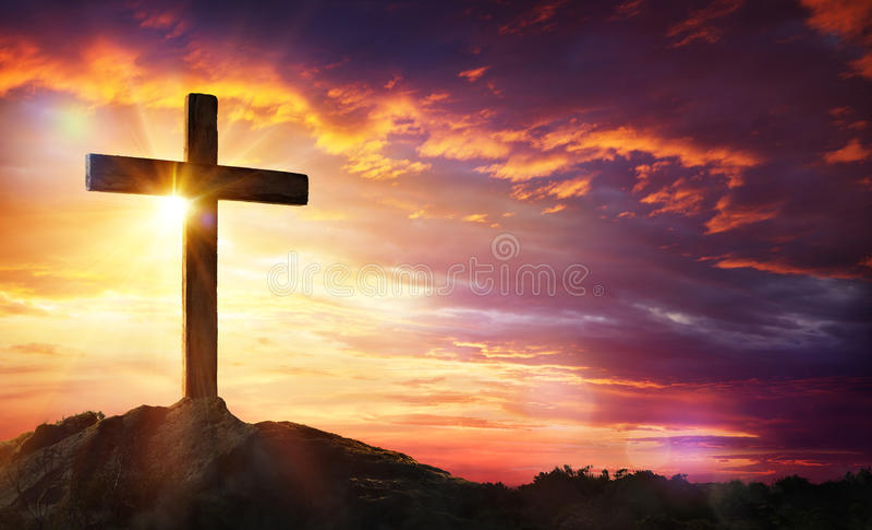 Kreuzigung des Jesus Christus lizenzfreie stockbilder