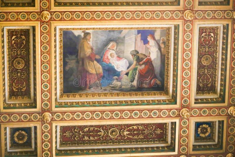 Kreuzigung von St. Peter Painting - Rom stockfoto
