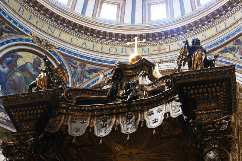 Kreuzigung von St. Peter Painting - Rom lizenzfreies stockfoto