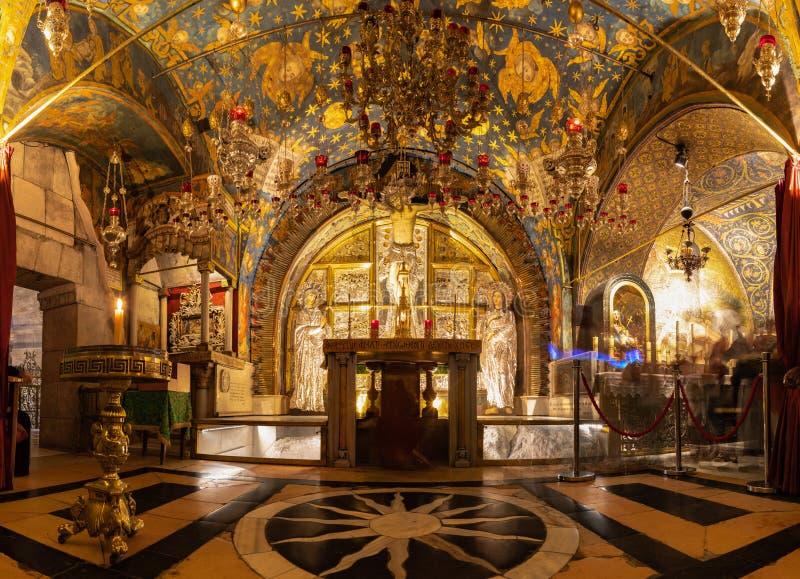 Kreuzigungs-Altar-Panorama stockbild