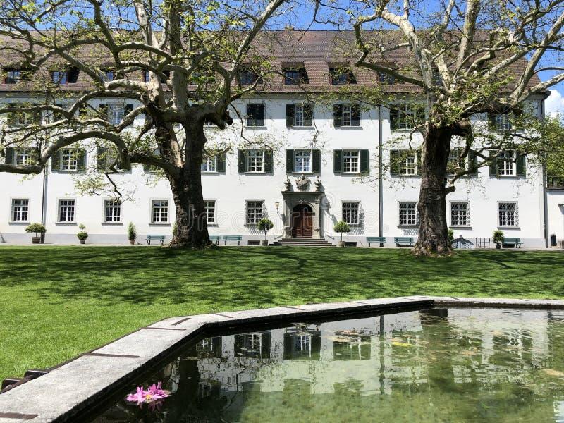 Kreuzlingenabdij of Kloster Kreuzlingen, Zwitserland stock fotografie