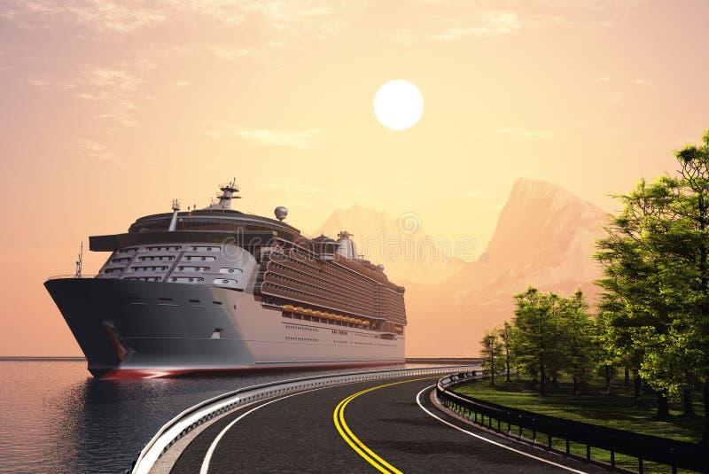 Kreuzschiff-Costa Luminosa lizenzfreie abbildung