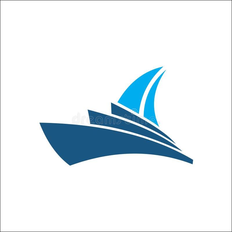 Kreuzschiff-Logo Template-Vektorikonendesign lizenzfreie abbildung