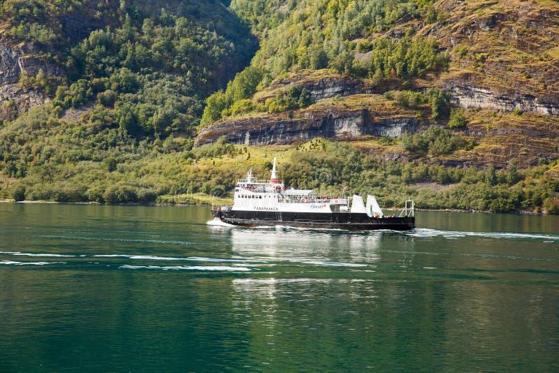 Kreuzschiff in Norwegen stockfoto