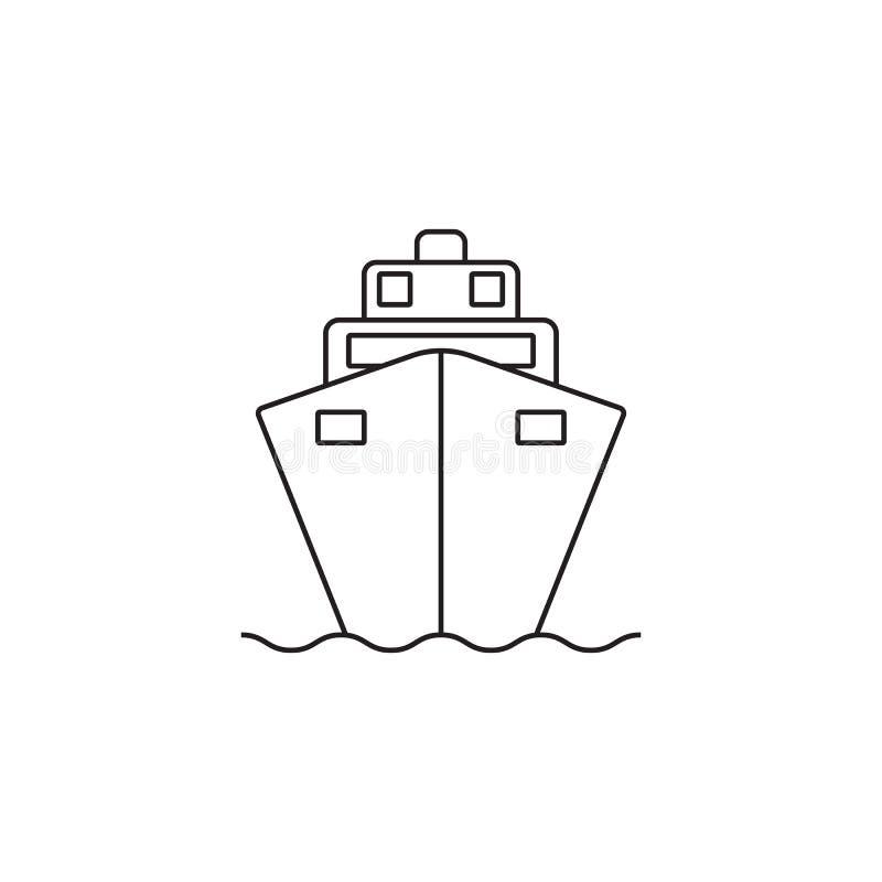 Kreuzschifflinie Ikone, Entwurfsvektor-Logoillustration, linear stock abbildung