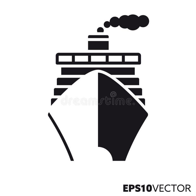 Kreuzschiffvektor Glyphikone stock abbildung