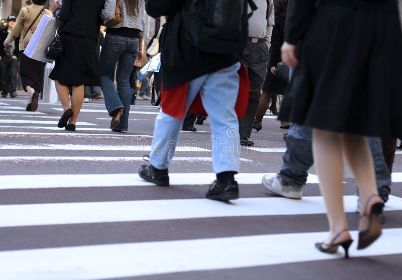 Kreuzung der Straße stockbild