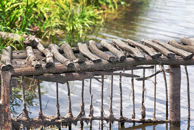 Kreuzung des Flusses lizenzfreies stockfoto