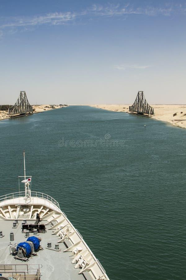 Kreuzung Suezkanals lizenzfreies stockbild
