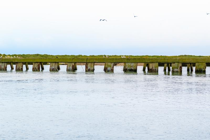 Kreuzung von Fluss Blyth und von Dunwich-Fluss in Southwold, Suffolk stockfotos