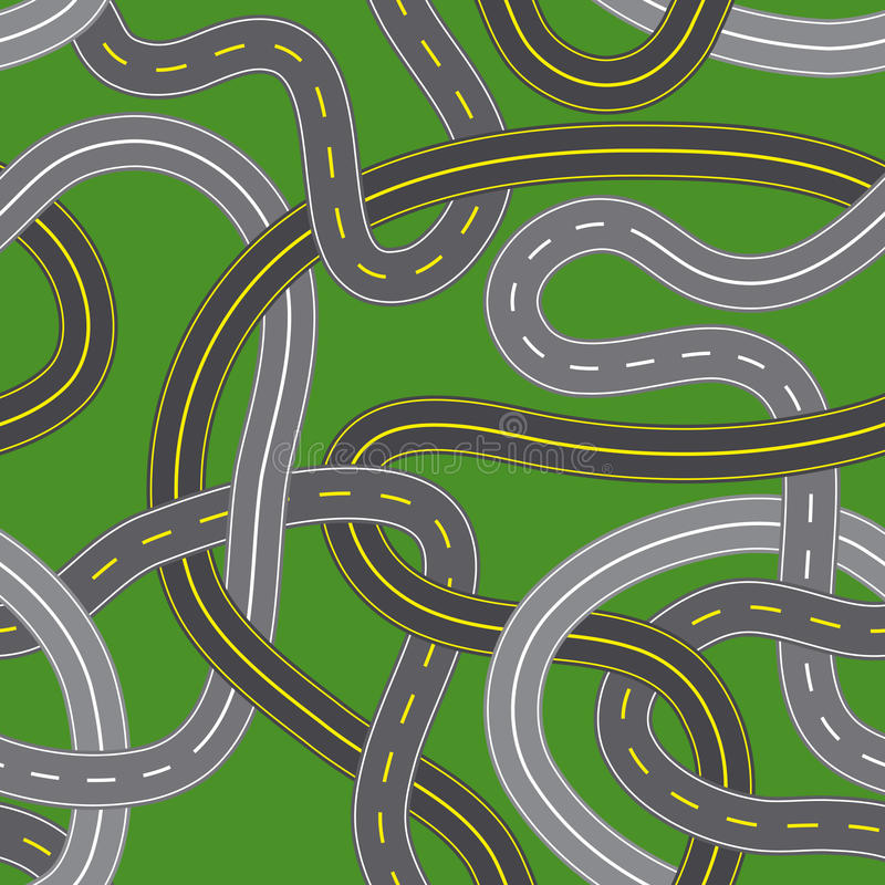 Kreuzungen stock abbildung