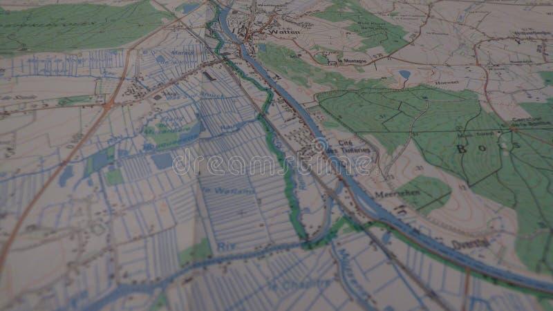 Kreuzungen auf einer Karte stockfotos