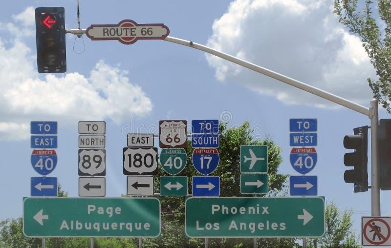 Kreuzungen auf Route 66 lizenzfreies stockfoto