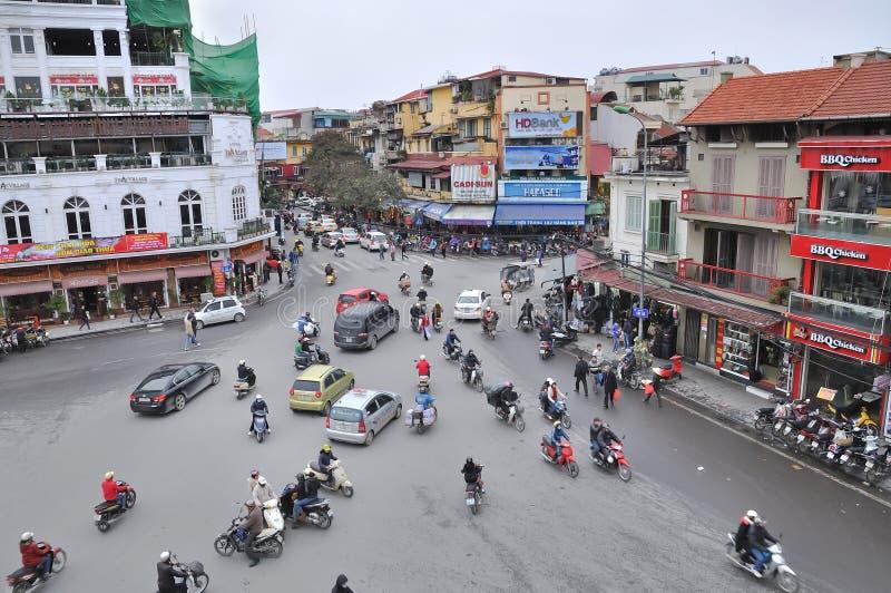 Kreuzungen und Verkehr, Hanoi lizenzfreies stockfoto
