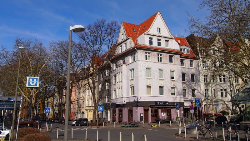 Kreuzviertel i Dortmund, Tyskland arkivbilder