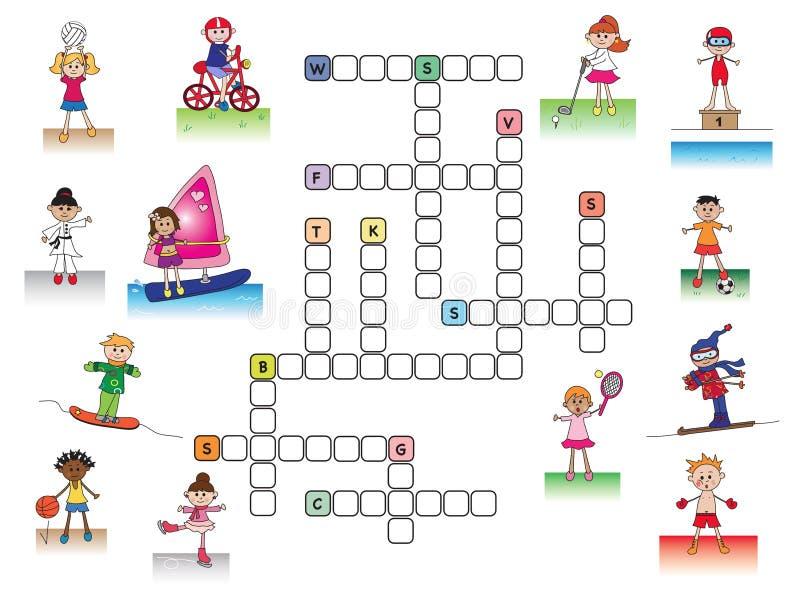 Einfaches Boot Kreuzworträtsel