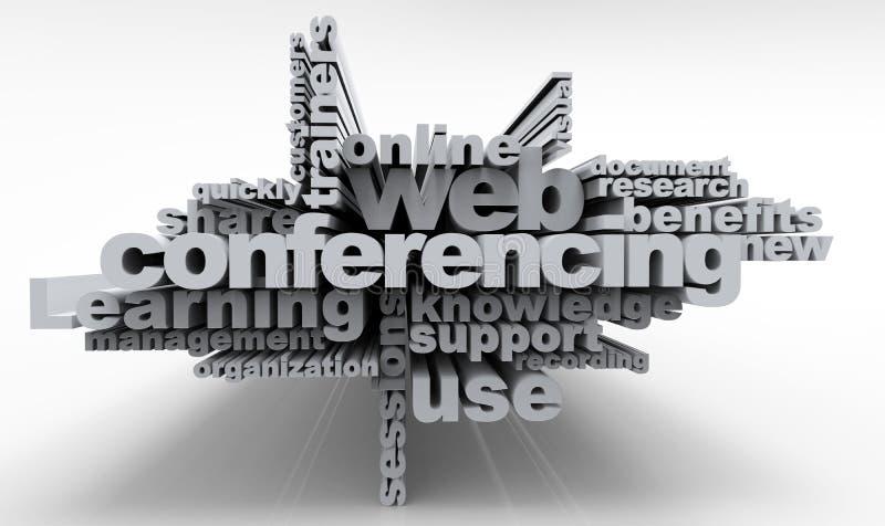 Kreuzworträtsel-Netz-Konferenzschaltung stock abbildung