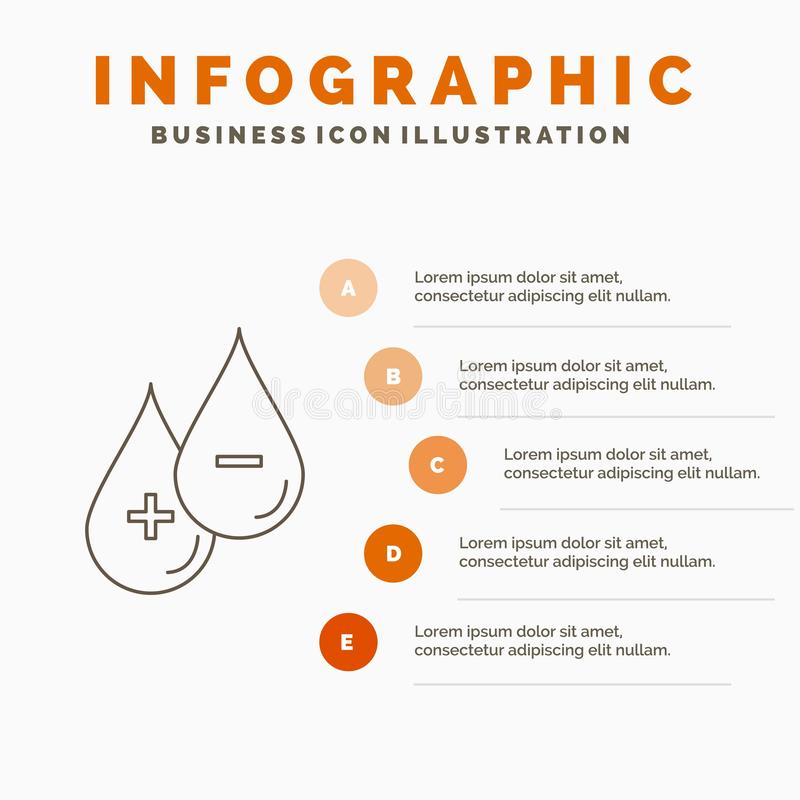 krew, kropla, ciecz, Plus, Minus Infographics szablon dla strony internetowej i prezentacji Kreskowa Szara ikona z Pomarańczowym  ilustracji