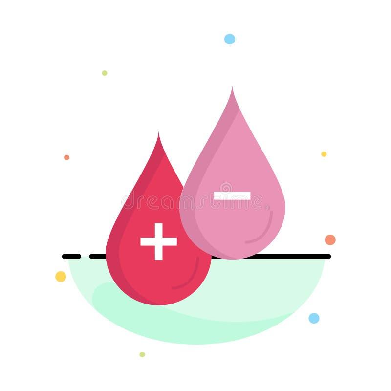 krew, kropla, ciecz, Plus, Minus Płaski kolor ikony wektor royalty ilustracja