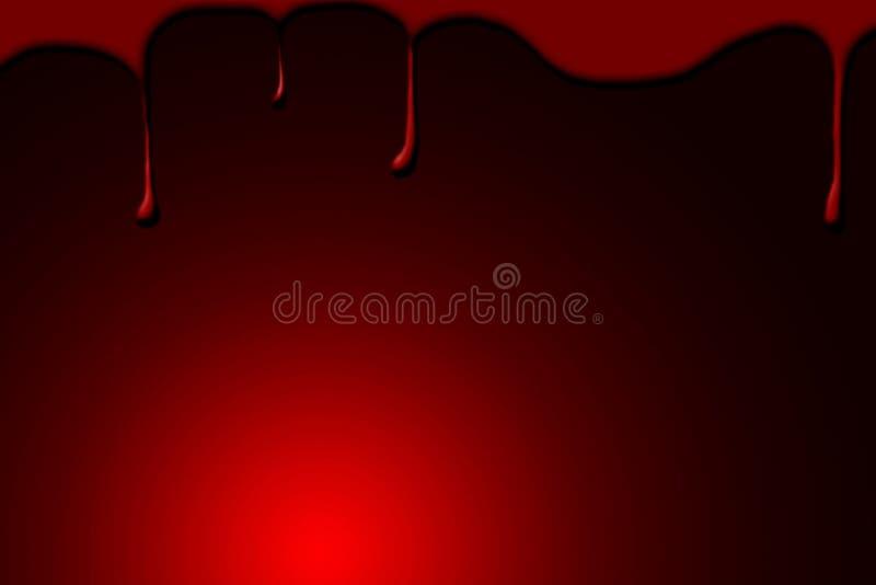 Krew krople na czerwonym tle royalty ilustracja