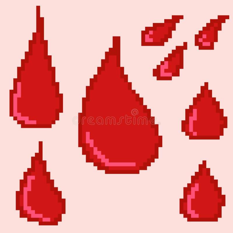 krew opuszcza dla projekta komputerowe i mobilne gry ilustracja wektor