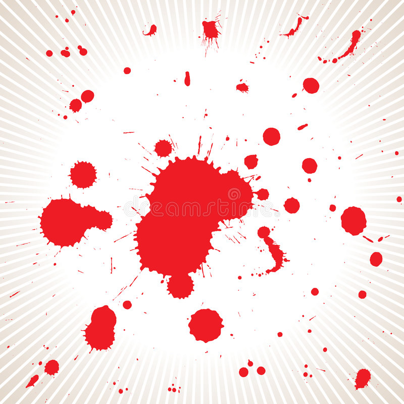 krew rozbryzguje się akt wektora ilustracji