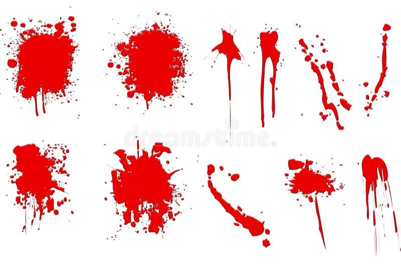 krew splatters ilustracja wektor