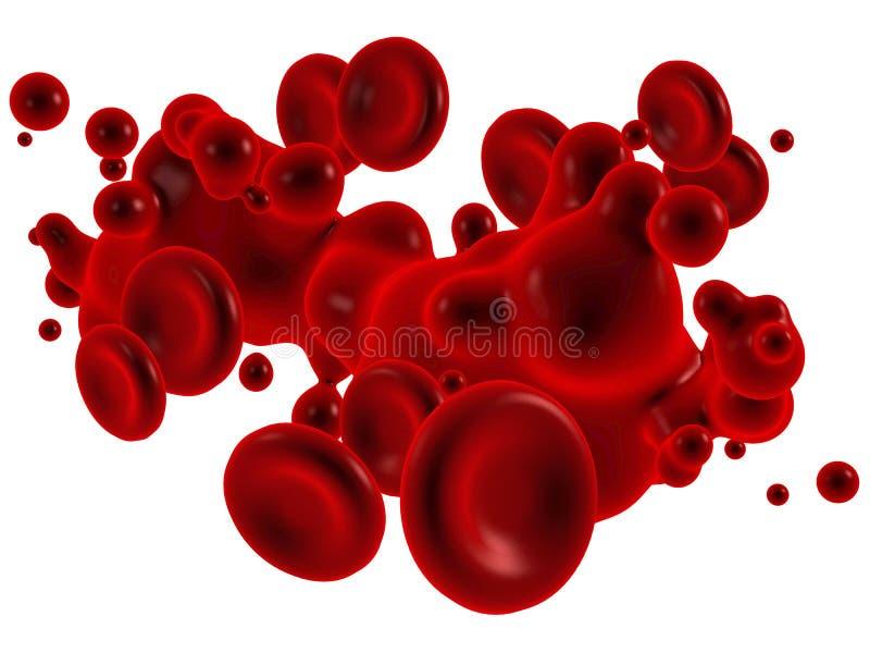 Krew z czerwonymi krwionośnymi corpuscles ilustracja wektor
