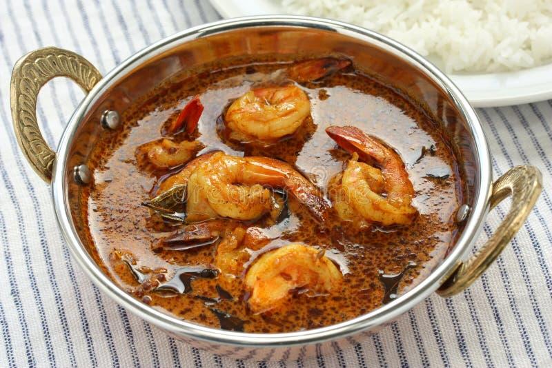 Krewetka curry, indyjski jedzenie fotografia stock