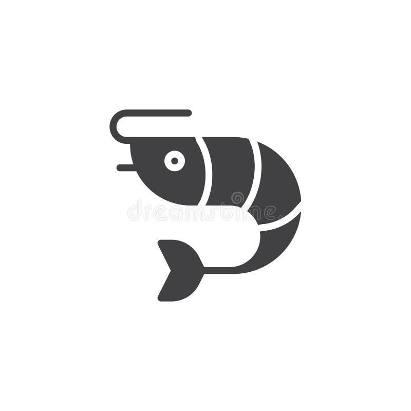 Krewetkowa karmowa wektorowa ikona ilustracja wektor