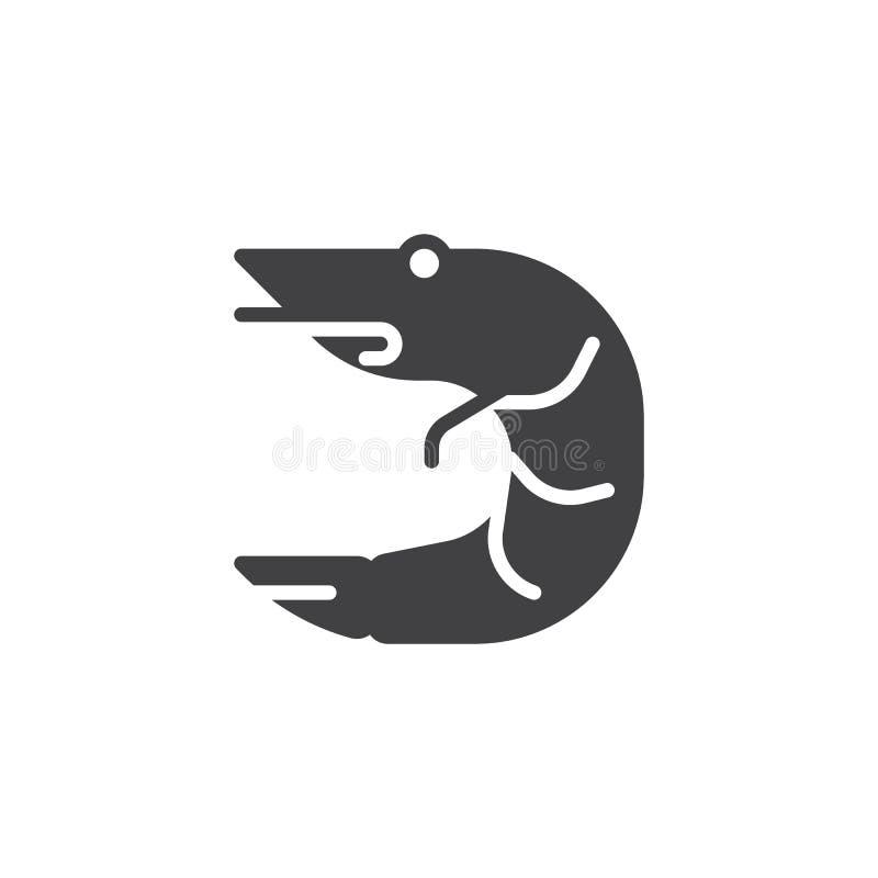 Krewetkowa wektorowa ikona ilustracji