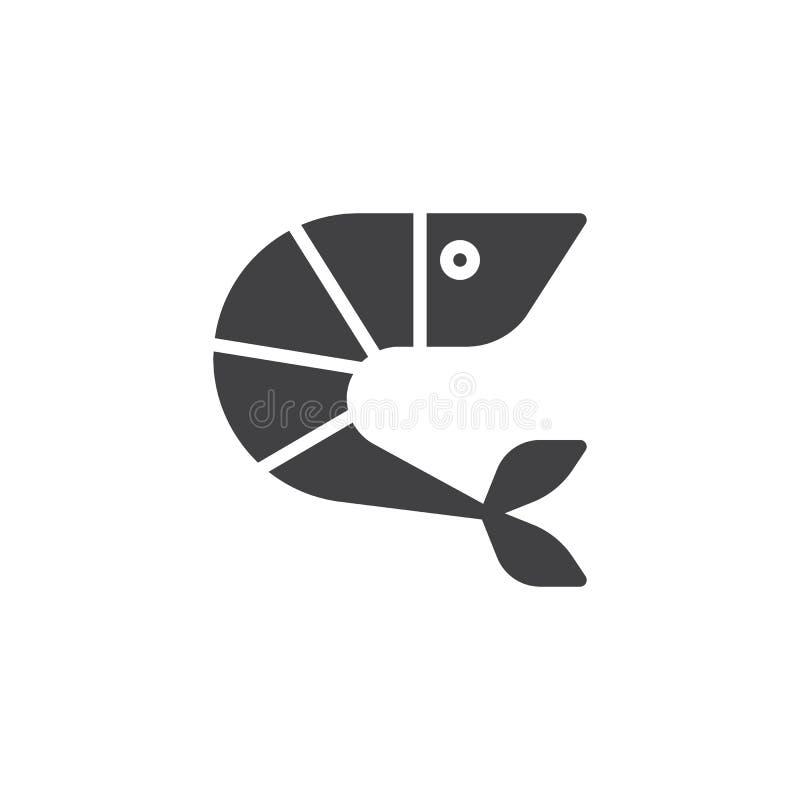 Krewetkowa wektorowa ikona royalty ilustracja