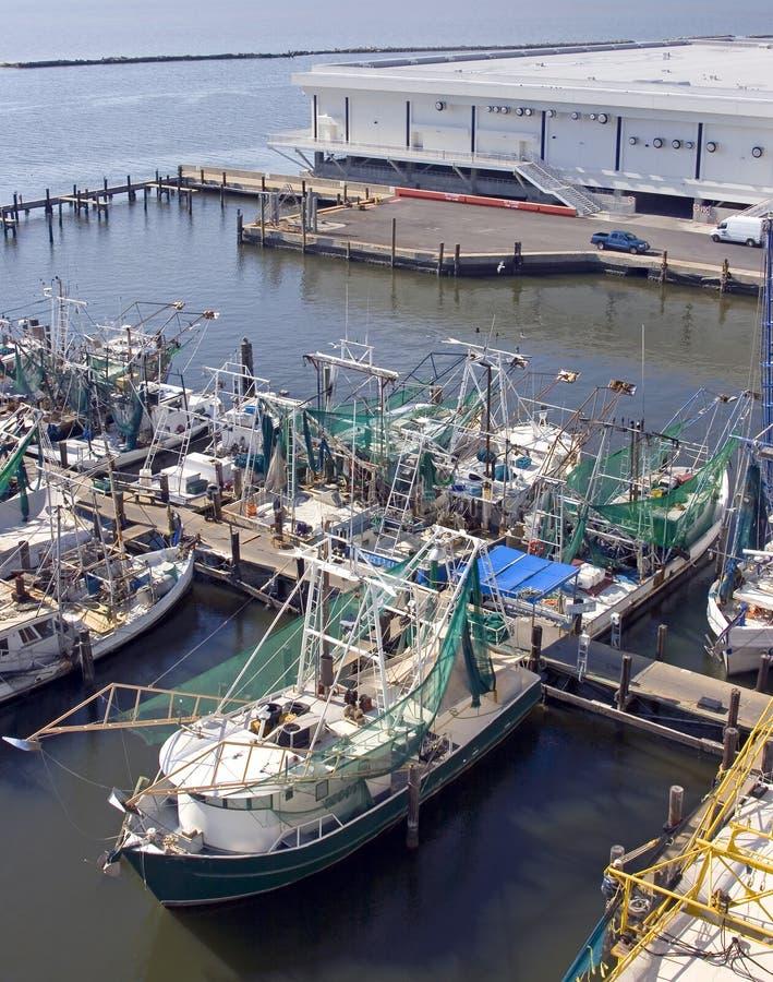 krewetkowe biloxi łodzie fotografia stock