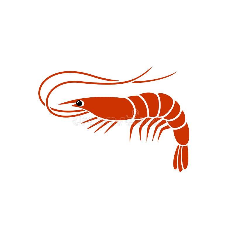 Krewetkowy logo ilustracji
