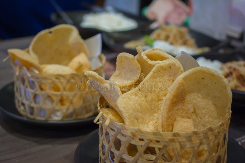 Krewetkowy ryżowy krakers obrazy stock