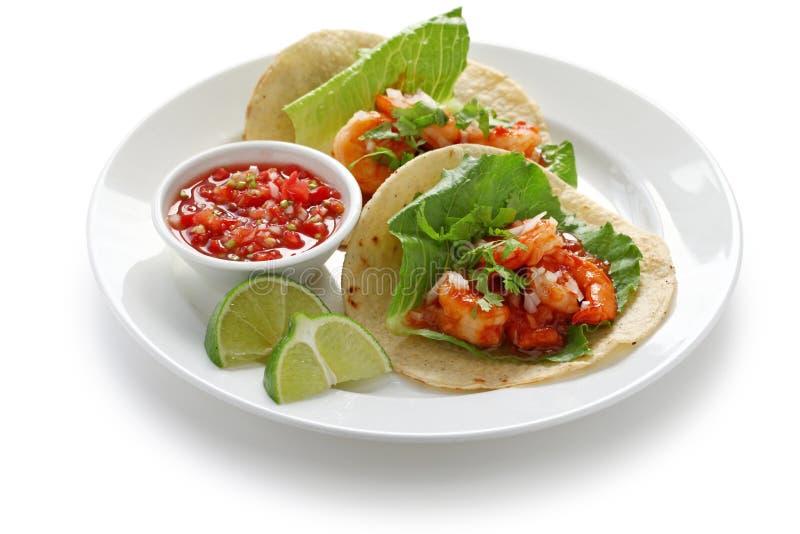 Krewetkowy tacos zdjęcia stock