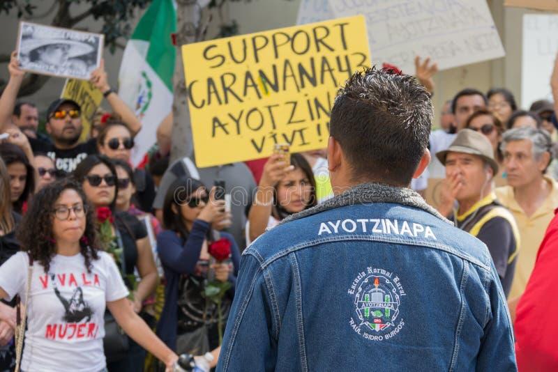 Krewni ucznie które znikali w Meksyk pakowali s obrazy royalty free