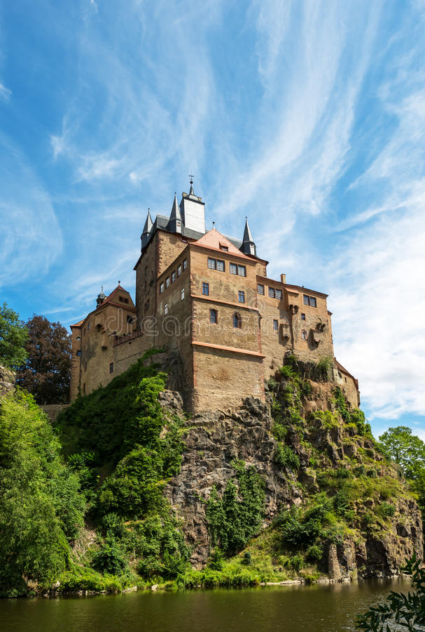 Kriebstein Burg in Sachsen, Germany. View Kriebstein Burg Sachsen, Germany stock image