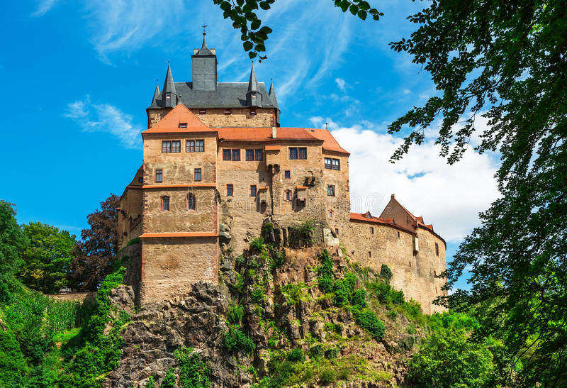 Kriebstein Burg in Sachsen, Germany royalty free stock photo