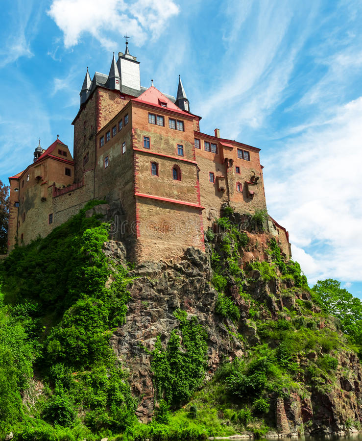 Kriebstein Burg in Saksen, Duitsland stock afbeeldingen