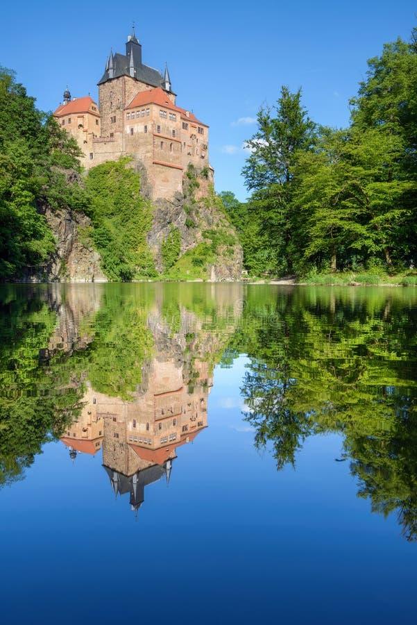 Kriebsteinkasteel, Duitsland royalty-vrije stock foto's