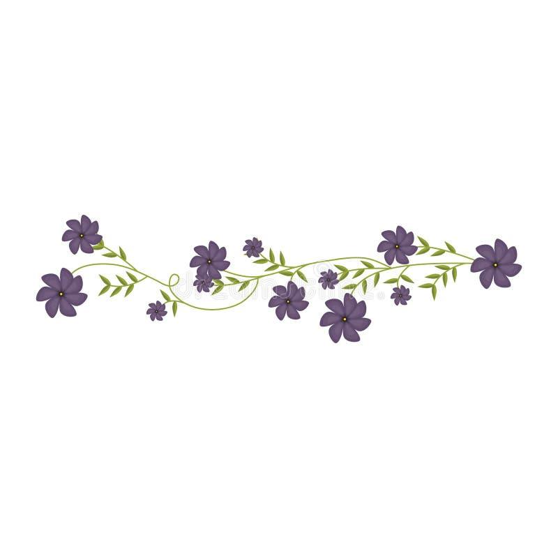 Kriechpflanze mit Veilchen blüht Blumenmuster lizenzfreie abbildung