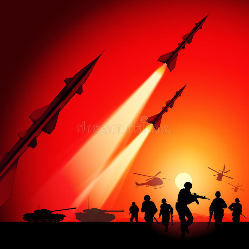 Krieg lizenzfreie abbildung