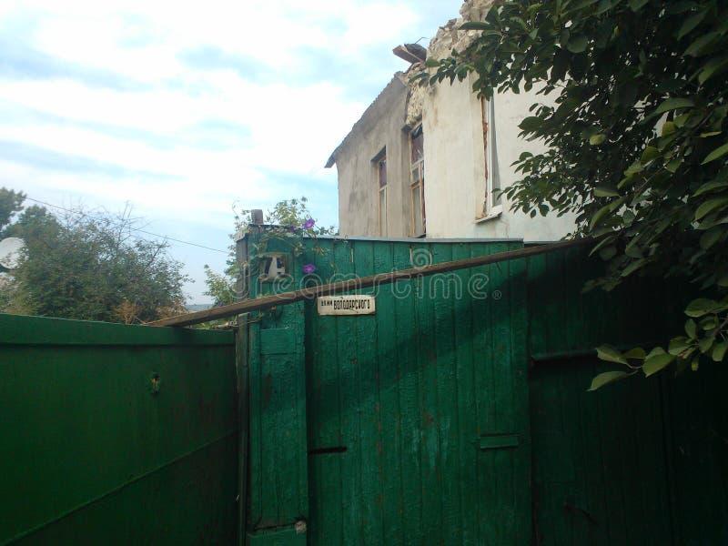 Krieg in Lugansk stockbild